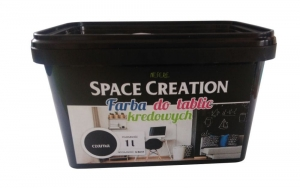 FARBA TABLICOWA CZARNA SPACE CREATION 1 L + Kreda